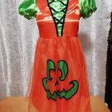 Карнавальное новогоднее платье принцессы тыквы на 10-11лет