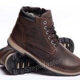 Ботинки кожаные зимние Timberland Brown Boots