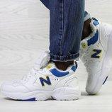 Бесплатная доставка Зимние женские кроссовки New Balance 608 white/blue
