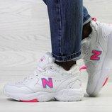 Зимние женские кроссовки New Balance 608 white/pink