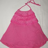 Хлопчатый розовый сарафан Gymboree на девочку 7 лет. Рост 122 см.