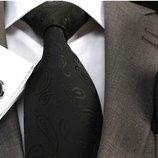 Черный галстук с рисунком код GB021