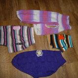 Одежда для животных, одежда для собак, вязаные кофточи для питомцев в отличном состоянии фиолетовая