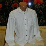 Рубашка белая мужская с длинным рукавом размер 44-46 Burton Menswear.