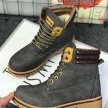 Sale 36-41рр Серые и черные ботинки тимберленды зимние женские мужские
