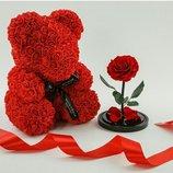 мишка из роз 40см всего 648гр отличный подарок-Акция