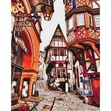 Картина по номерам. Городской пейзаж Яркие улицы Германии KHO3539