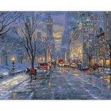 Картина по номерам. Городской пейзаж Краски ночного города KHO3537