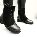 ботинки Очень Удобные Эко Кожа Эко Замш Люкс Искуств Мех От Подошвы 14 см