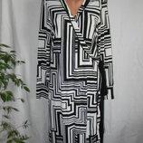 Платье на запах с геометрическим принтом george