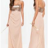 Роскошное платье в пол Missguided uk12/euro 40