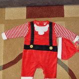 Человечек новогодний Санта early days 3-6 мес