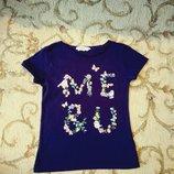 Красивенькая футболочка Н&m 5-6лет
