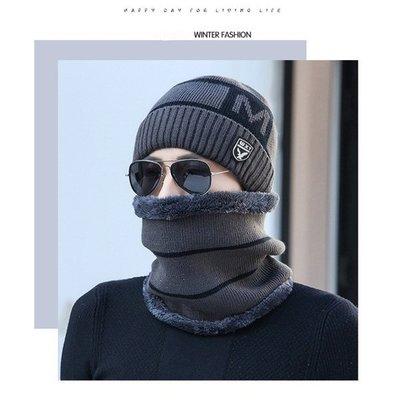 Зимняя вязаная мужская шапка WXT код 93 серая