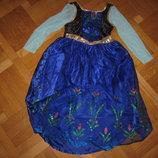 Карнавальное платье Анна, холодное сердце Frozen Disney 7-8 лет 122-128см