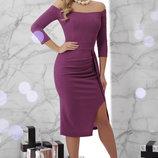 Женское вечернее платье в т. фиолетовом цвете Амелия S-XL