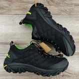 TERMO. Черные с зелёным и оранжевым мужские зимние кроссовки Merrell Ice Moc 2