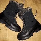 39р-25 см кожа ботинки Kamik на мороз отличное состояние