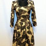 Суперцена. Яркое жаккардовое платье. Бабочки. Турция. Новое, р. 42