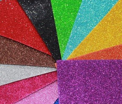 Флексика Фоамиран глиттерный самоклейка А4 размера разноцветный пластичная замша