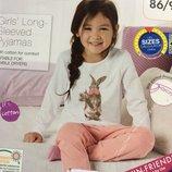 Детская пижама Lupilu на девочку 1-2 года, рост 86-92 см