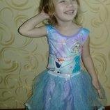 Карнавальное платье Эльзы на 7-8лет.