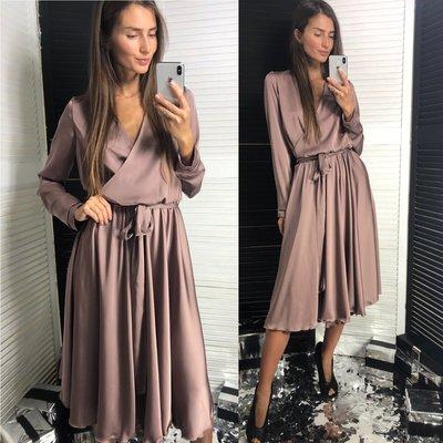 bb78a3e0715 женское шёлковое платье на запах с длинным рукавом лд 726  800 грн ...