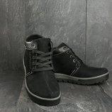 Мужские зимние ботинки из нубука.