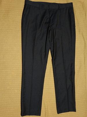Тонкие полушерстяные темно-синие формальные брюки Topman Англия 34 S.