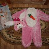 Карнавальный костюм Зайка Зайчик,зайца,заец на 2-3 года можна і довше Італія