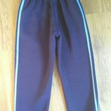 Спортивные штаны, утепленные, синие, рост140