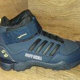 Зимние мужские ботинки bona на меху натуральная кожа р. 41-46