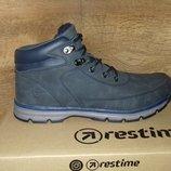 Зимние ботинки мужские tm restime одна ростовка р. 41-46 синие и чёрные