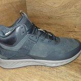 Зимние ботинки кроссовки мужские baas на меху натуральный замш р. 41-46 серые и синие