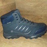 Зимние мужские ботинки кроссовки великаны bona натуральная кожа р.41-46 чёрные и синие
