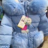 Зимний костюм - комбинезон для девочек kiko 4503 98-128 размер