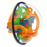 Развивающий логический шар лабиринт. 17см диаметр, 118 ходов