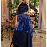 Супер платье в пол Герцогиня, Размеры 42, 44, 46