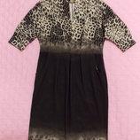 Леопардовое платье летучая мышь
