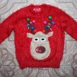 Новогодний свитерок F&F на 5-6лет