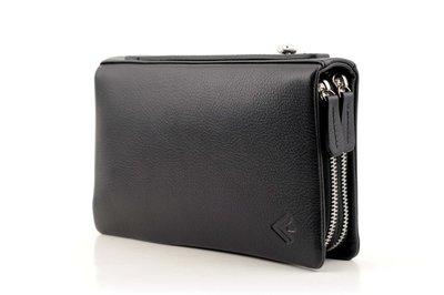Мужской кожаный клатч барсетка Бесплатная доставка Eminsa 5089 12-1 черный натуральная кожа