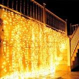 LED гирлянда Водопад 480 ламп 3х3 м белый, синий, желтый,мульти