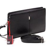 Большой кожаный клатч-сумка Бесплатная доставка Eminsa 5017-37-1 черный барсетка натуральная кожа