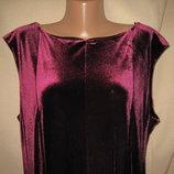 Красивое велюровое платье Roman р-р20