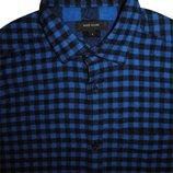 Мужская рубашка в клетку синяя River Island S M
