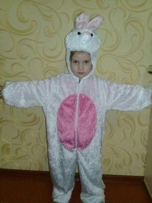 Карнавальный костюм Зайчик на 7-8лет.