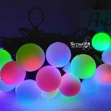 Светодиодная многоцветная Новогодняя гирлянда шарик Лед led мультицвет
