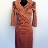 Суперцена. Стильное платье, вставки вышивки. Турция. Новое, р. 42-44