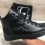 Мужские кожаные зимние ботинки Рр