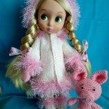 Зимний вязаный комплект для куклы Disney Animators